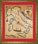 map of Italy in frame